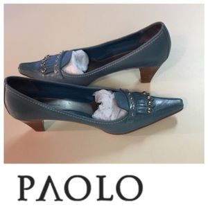 CCO Price Turquoise Paolo Low Heeled Loafer